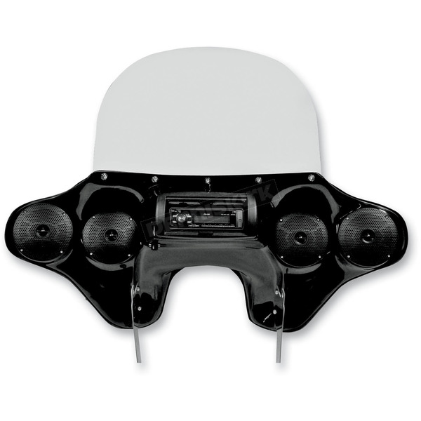 Hoppe Industries Gloss Black Quadzilla Fairing with Stereo Receiver - HDF-SWBK-QZ