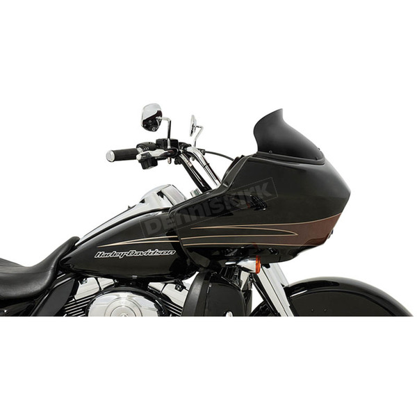 Memphis Shades Black Opaque 5.5 in. Spoiler Windshield for OEM Fairings - MEP85411