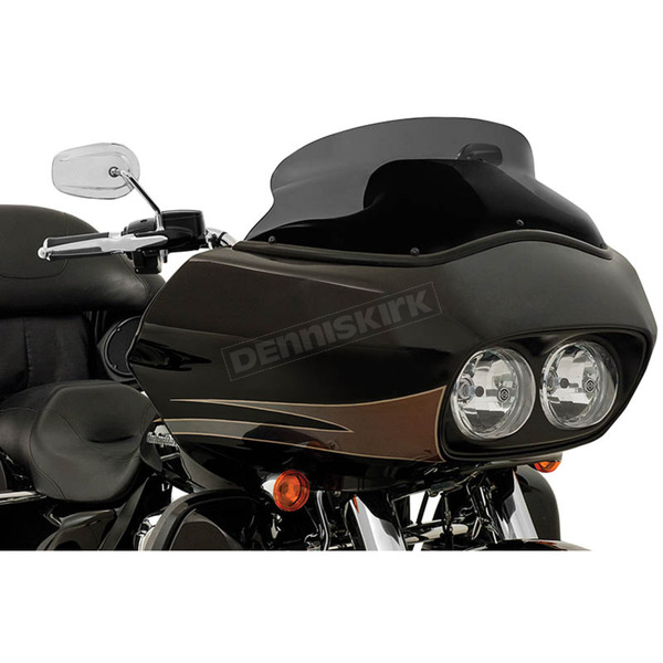 Memphis Shades Black Opaque 6.5 in. Spoiler Windshield for OEM Fairings - MEP85511