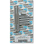 Chrome Smooth Primary Cover Bolt Set - 24010772