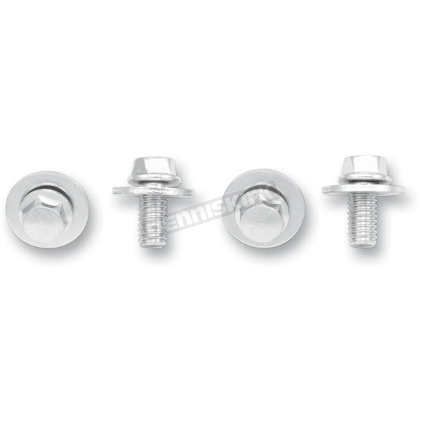 Bolt Motorcycle Hardware SEMS Hex-Head Flange Nuts with Fender Washers - 024-11612
