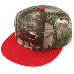 Real Tree Black/Red Snapback Hat - M15596116BLRONZ