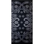 Black/White Paisley Tube Multi-Wear Headwear - TUBE-01