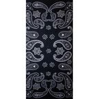 Black/White Paisley Fleece Tube Multi-Wear Headwear - FLEECETUBE-01