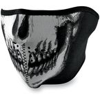 Glow in the Dark Skull Half Face Mask - WNFM002HG