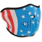Glow In The Dark Stars and Stripes Half Face Mask - WNFM176HG