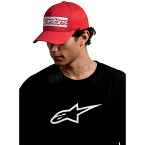 Alpinestars Red Poly Mesh Hat - 10108102130S/M