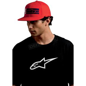 Alpinestars Red Rectangle Box Hat - 10108102130S/M