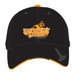 Woodys Black Stud Patch Hat - 502-PATCH