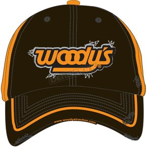 Woodys Black/Orange Frayed Hat - 502-FRAY