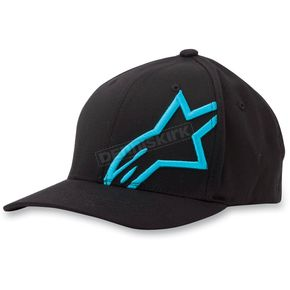 Alpinestars Black/Blue Corp Shift 2 Hat - 1032810081072LX
