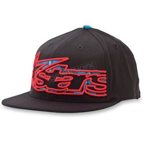 Alpinestars Black Big Plaid 210 Flat Brim Hat - 10328101210LXL
