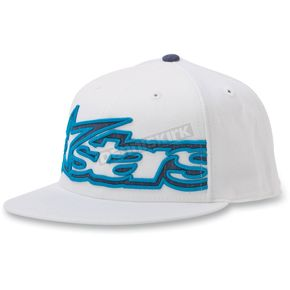 Alpinestars White Big Plaid 210 Flat Brim Hat - 10328101220LXL