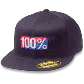 100% Flat Bill Flex-Fit Hat - 20012-001-18