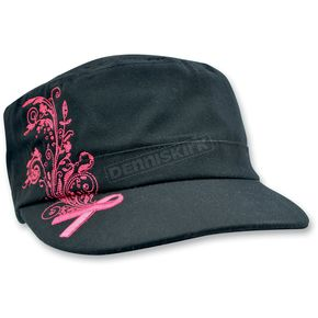 Zan Headgear Womens Highway Honeys Studded Pink Ribbon Cap - CPHH09
