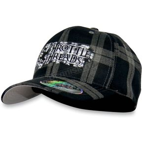 Throttle Threads Dark Knight Flex-Fit Hat - TT439H97BGLXL
