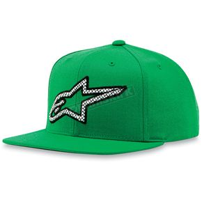 Alpinestars Green Crisscross Hat - 1013-8505160