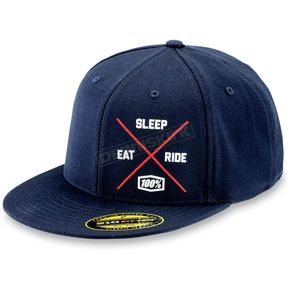100% Eat Sleep Ride Snapback Hat - 20024-015-01