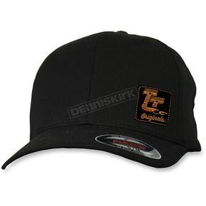 Throttle Threads Black Curved Bill Hat - TT601H51BKLX