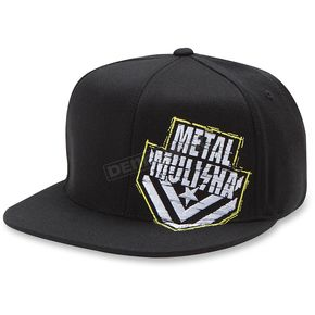 Metal Mulisha Black/White Crumble Flex-Fit Hat - M15596118BLWS/M