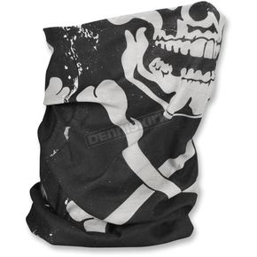 Zan Headgear Skull/Crossbones Fleece-Lined Motley Tube - TF227