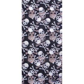 Black Skulls and X-Bones Tube Multi-Wear Headwear - TUBE-70