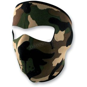 Zan Headgear Woodland Camo Full Face Mask - WNFM118