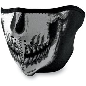 Zan Headgear Glow in the Dark Skull Half Face Mask  - WNFM002HG