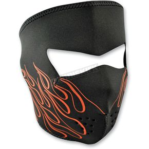 Zan Headgear Orange Flame Face Mask - WNFM045
