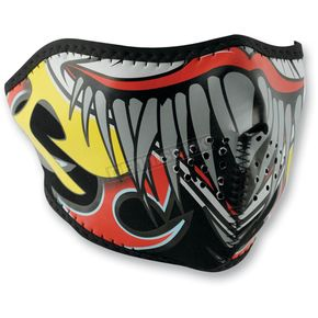 Zan Headgear Lethal Threat Clown Half Face Mask - WNFMLT04H