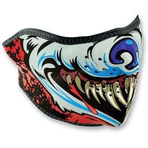 Zan Headgear Lethal Threat Wolf Half Mask - WNFMLT10H