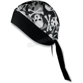 Schampa Skull and Crossbones Stretch Headwrap - BNDNA003-70