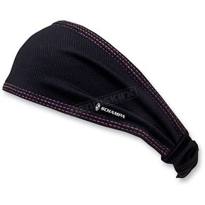 Schampa Black/Pink Coolskin Mini Doo-Z Headwrap - DZ015B-09