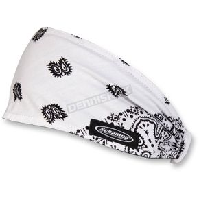Schampa White/Black Paisley Mini Doo-Z Headwrap - DZ02-208