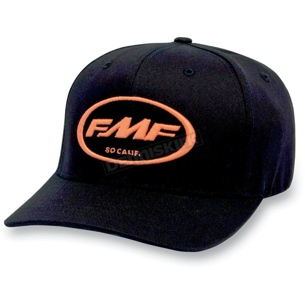 FMF Black/Orange Factory Don Hat - F31196103ORLXL