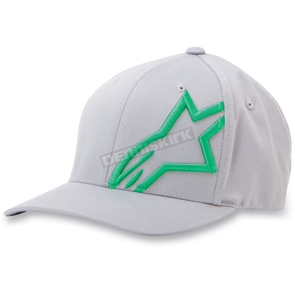 Alpinestars Charcoal/Green Corp Shift 2 Hat - 1032810081860LX