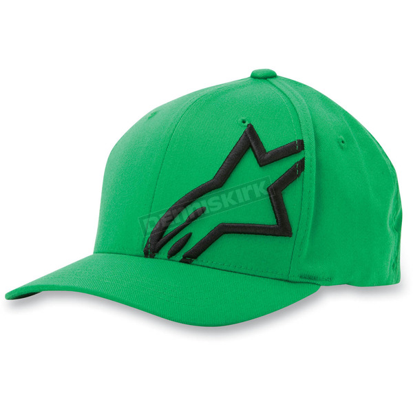 Alpinestars Green/Black Corp Shift 2 Hat - 1032810086010LX
