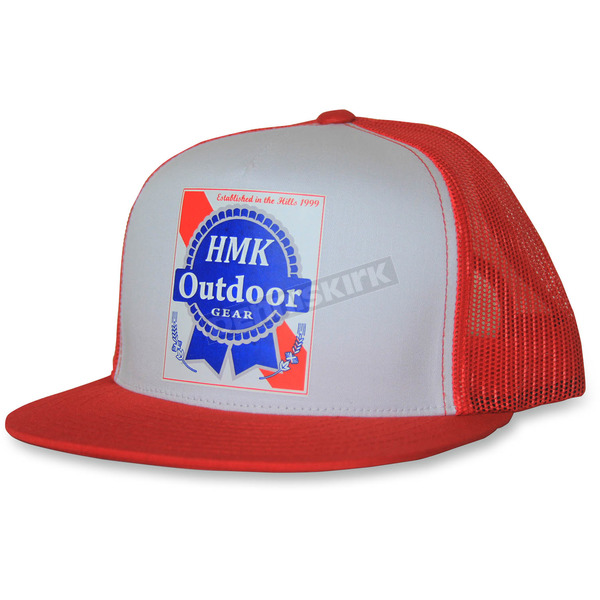 HMK Red Blue Ribbon Snapback Hat - HM5PBRR