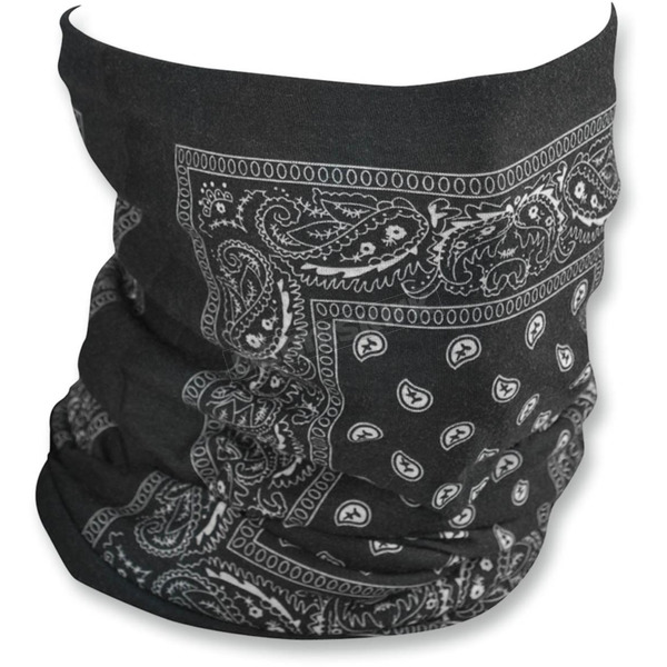 Zan Headgear Black Paisley Fleece-Lined Motley Tube - TF101