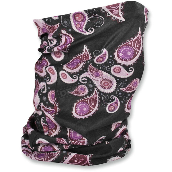 Zan Headgear Purple Paisley Fleece-Lined Motley Tube - TF228