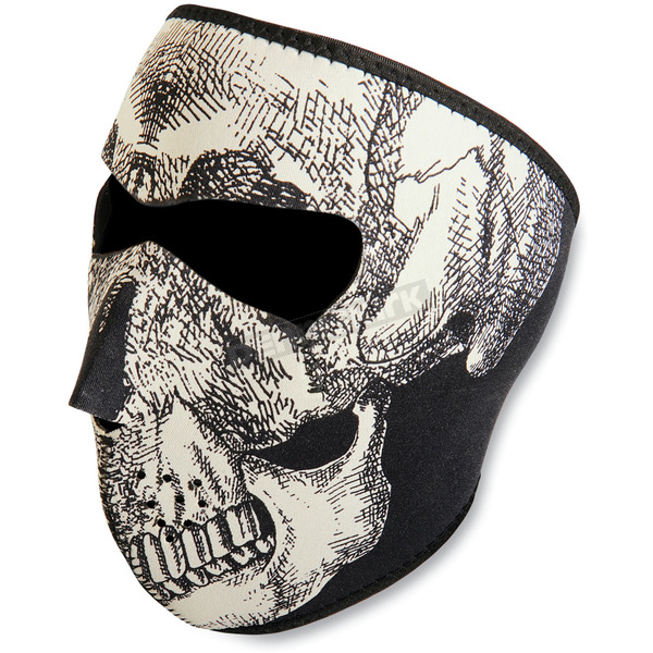 Zan Headgear Skull Glow in the Dark Face Mask - WNFM002G