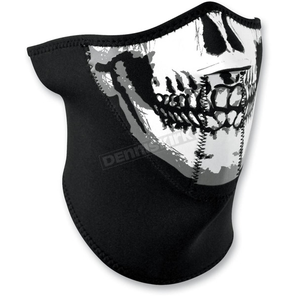 Zan Headgear Skull 3 Panel Half Face Mask - WNFM002H3
