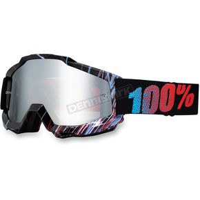 100% Red Weld Accuri Motocross Goggles w/Mirror Lens - 50210-033-02