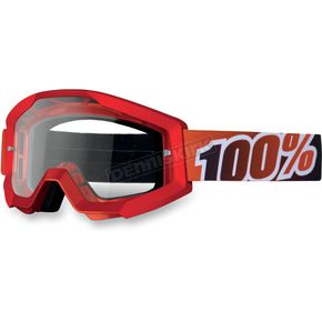 100% Fire Red Strata Goggles  - 50400-003-02