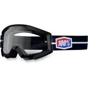 100% Black Suit Strata Goggles  - 50400-035-02