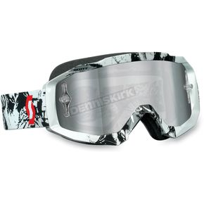 Scott Tiger Black/White Hustle Goggles - 2177823609015