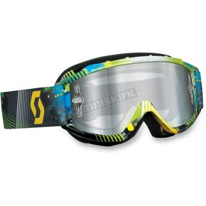 Scott Youth Tangent Blue/Green 89Si Pro Graphic Goggles - 219810-3605015