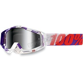 100% Purple Main Racecraft Goggles w/Mirror Silver Lens - 50110-053-01