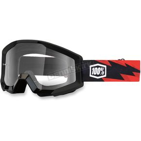 100% Black Strata Slash Goggles - 50400-076-02