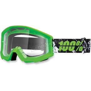 100% Green Strata Crafty Lime Goggles - 50400-078-02